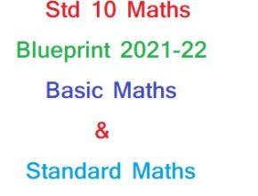 GSEB Class10 Maths Blueprint 2021-22 Basic Maths & Standard Maths